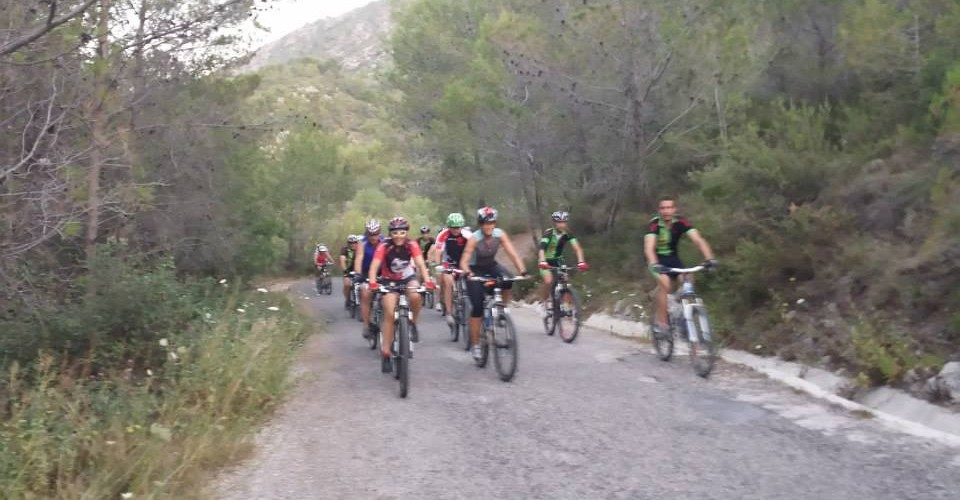 Mountainbiking Oltá in Calpe