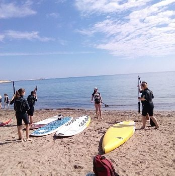 SUP, STAND UP PADDLE SURF LESSONS ACTIVACOSTABLANCA