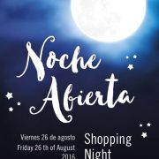 Friday the 26th of august Shopping Night in Denia