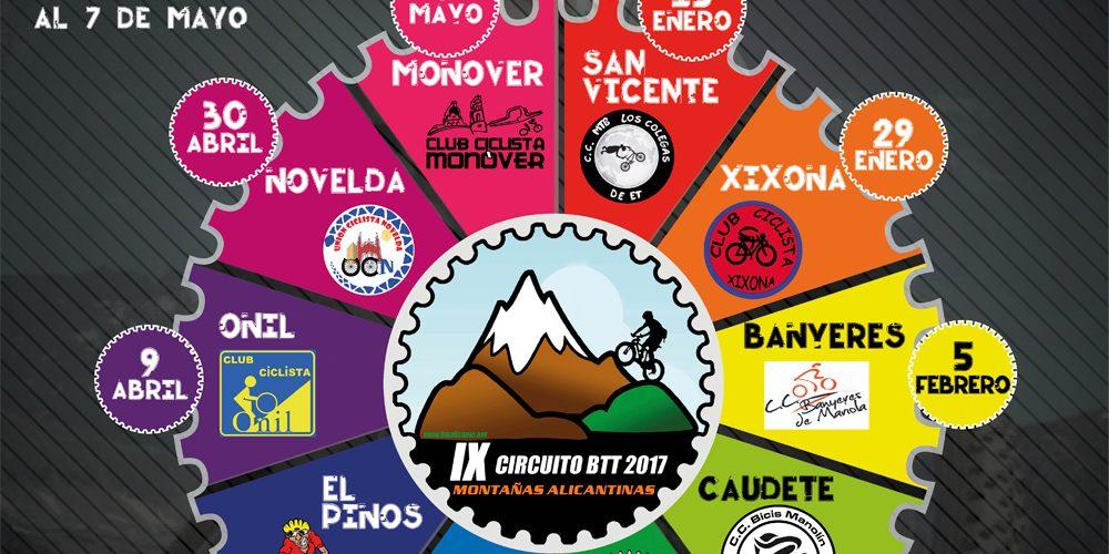 CIRCUITO BTT 2017 MONTAÑAS ALICANTINAS