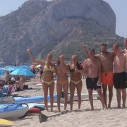 SUP / Paddle Boarding Group from Denmark enjoying with Paddlesurf Costablanca